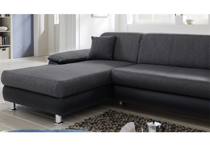 wohnlandschaft mexico ecksofa sofa polsterm bel in grau. Black Bedroom Furniture Sets. Home Design Ideas