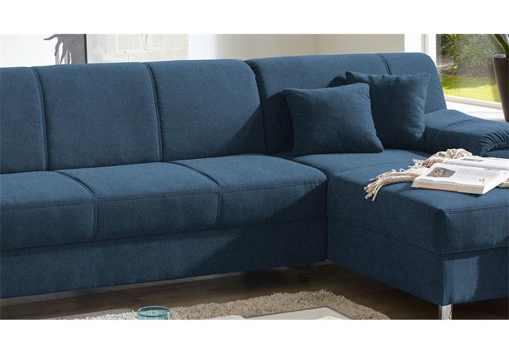 ecksofa alamo wohnlandschaft sofa polstersofa in blau mit kissen eur 509 95 picclick de. Black Bedroom Furniture Sets. Home Design Ideas