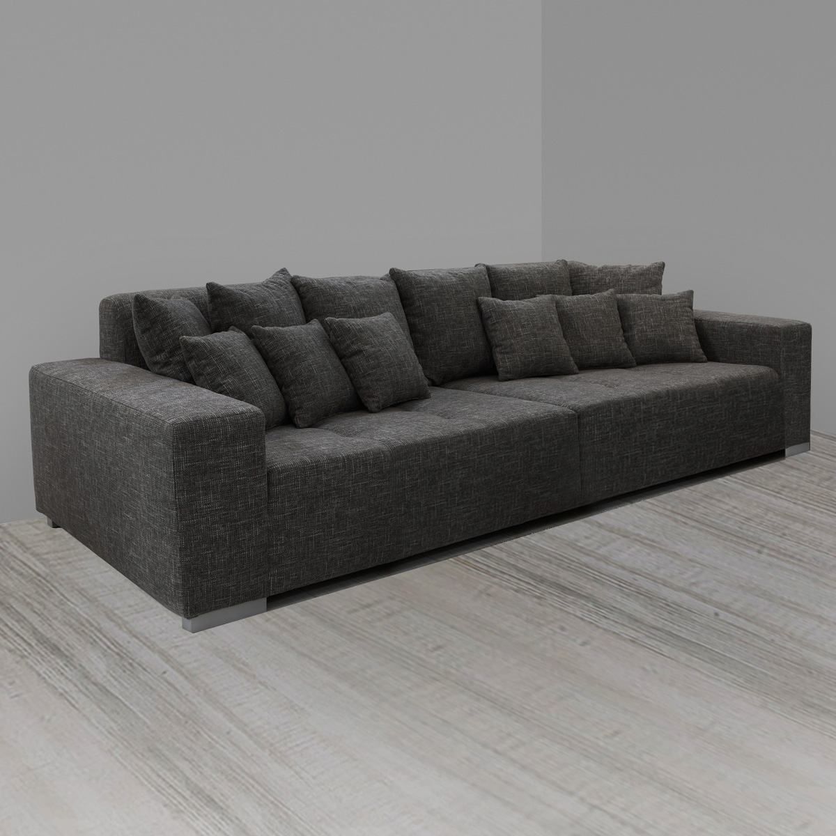 bigsofa arivos sofa polstersofa hocker polsterhocker beige braun grau wei ebay. Black Bedroom Furniture Sets. Home Design Ideas