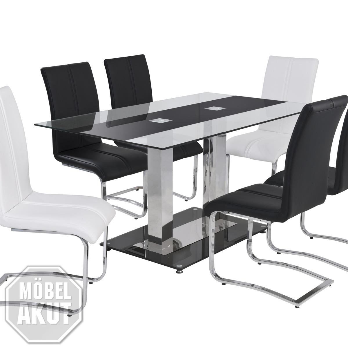 esstisch schwarz glas esstisch sinja ausziehtisch glas. Black Bedroom Furniture Sets. Home Design Ideas