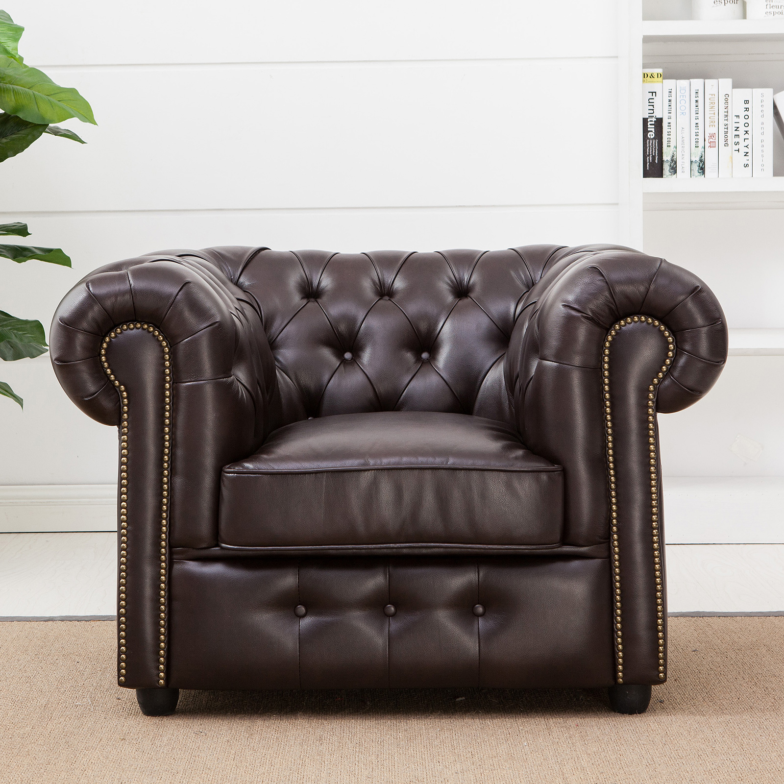 chesterfield polster sofa 2 sitzer 3 sitzer sessel dunkelbraun gl nzend steppung ebay. Black Bedroom Furniture Sets. Home Design Ideas
