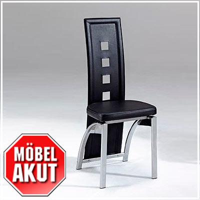 Stuhl rocco leder schwarz chrom neu ovp ebay - Stuhl leder schwarz ...