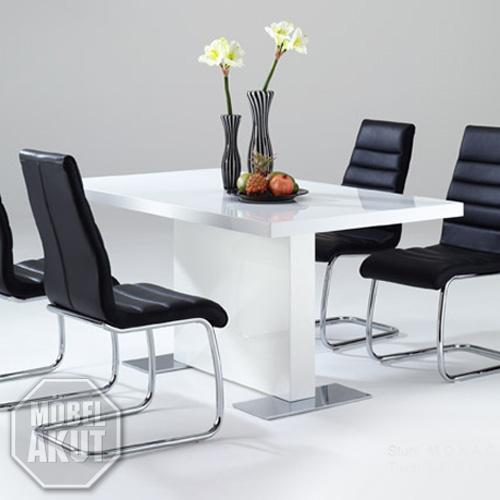 esstisch vienna tisch in weiss hochglanz b 140 cm. Black Bedroom Furniture Sets. Home Design Ideas
