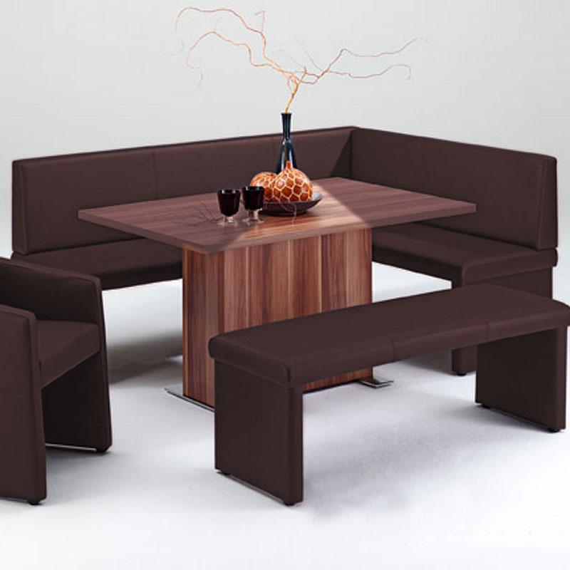 eckbank quadro eb 10 esszimmer polsterbank k chenbank braun 200x140 eur 289 95 picclick de. Black Bedroom Furniture Sets. Home Design Ideas