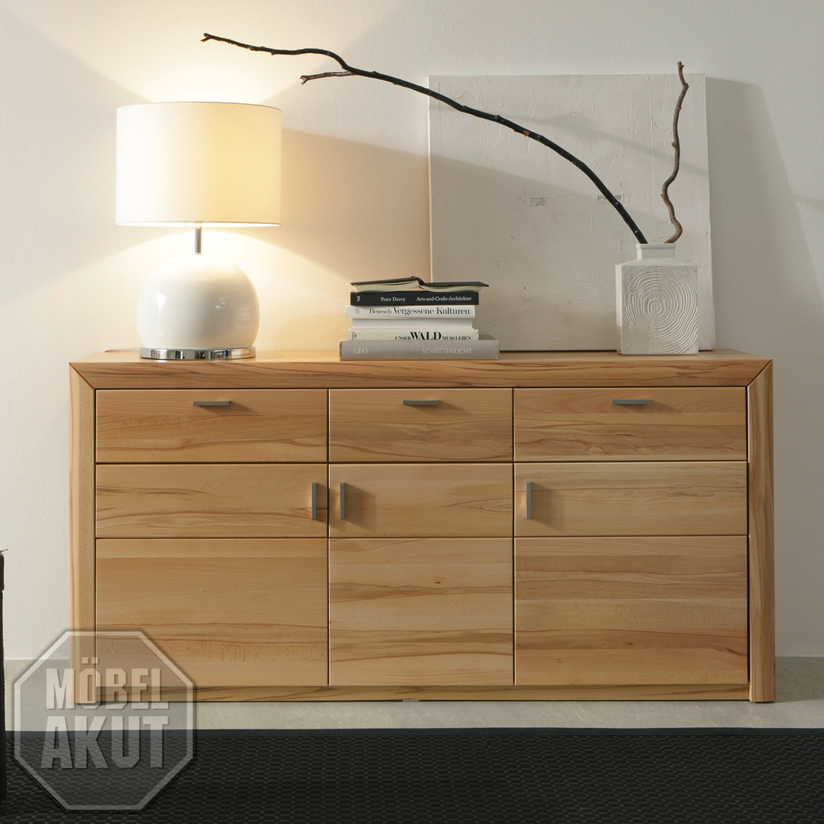 sideboard passepartout 03 kommode in kernbuche massiv ebay. Black Bedroom Furniture Sets. Home Design Ideas