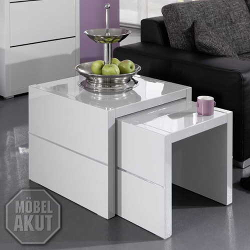 zweisatztisch luxor beistelltisch 2er set couchtisch. Black Bedroom Furniture Sets. Home Design Ideas