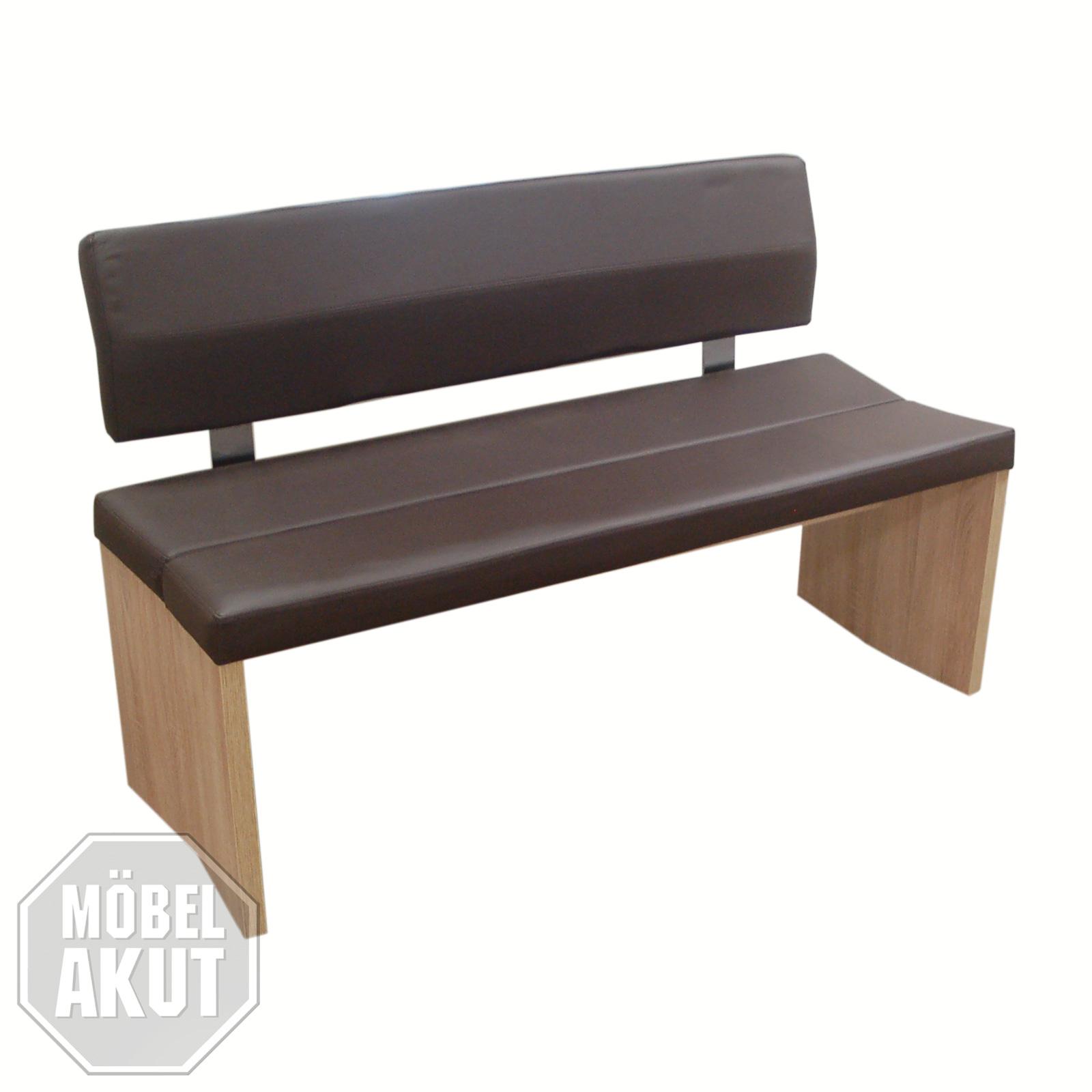 bank 160 woodwork bank sitzbank mit r cken in sonoma eiche. Black Bedroom Furniture Sets. Home Design Ideas