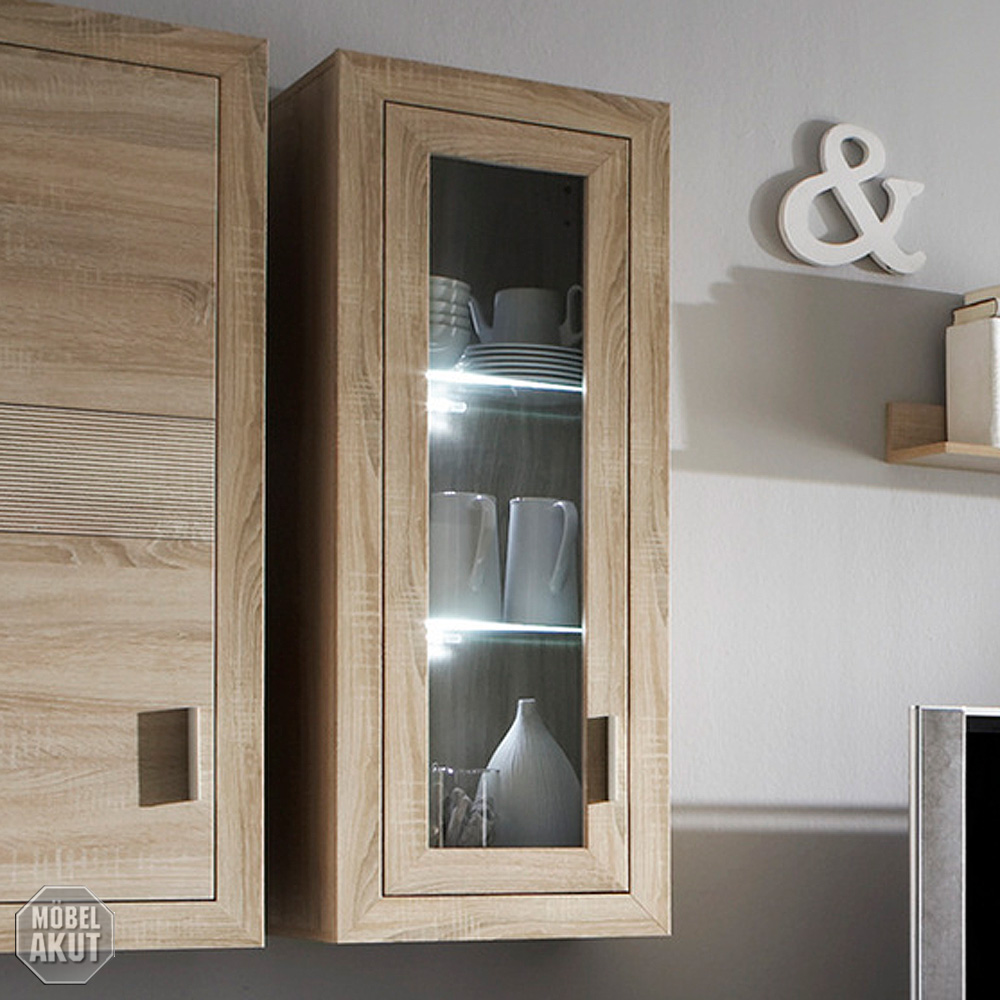 h ngeschrank 1 montreal schrank h ngevitrine in sonoma. Black Bedroom Furniture Sets. Home Design Ideas