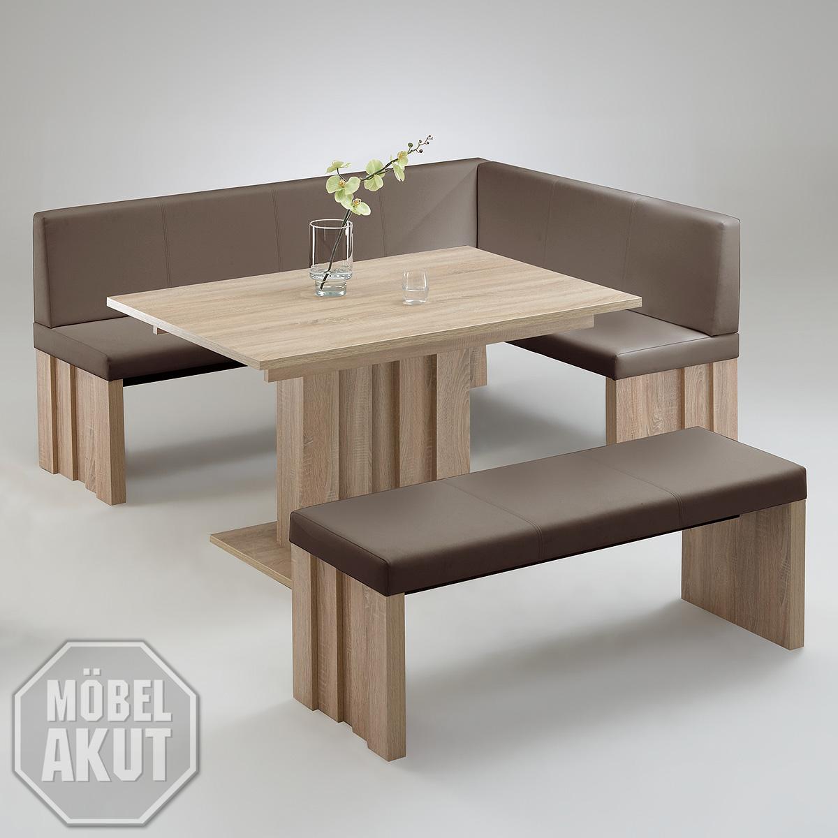 eckbankgruppe tommy side esszimmer in eiche s gerau und schlamm links 140 cm ebay. Black Bedroom Furniture Sets. Home Design Ideas