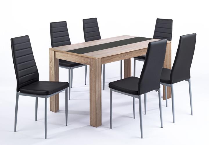 Tischgruppe Pegasus Esszimmer Küche Tisch Sonoma Eiche 6 Stühle in ...