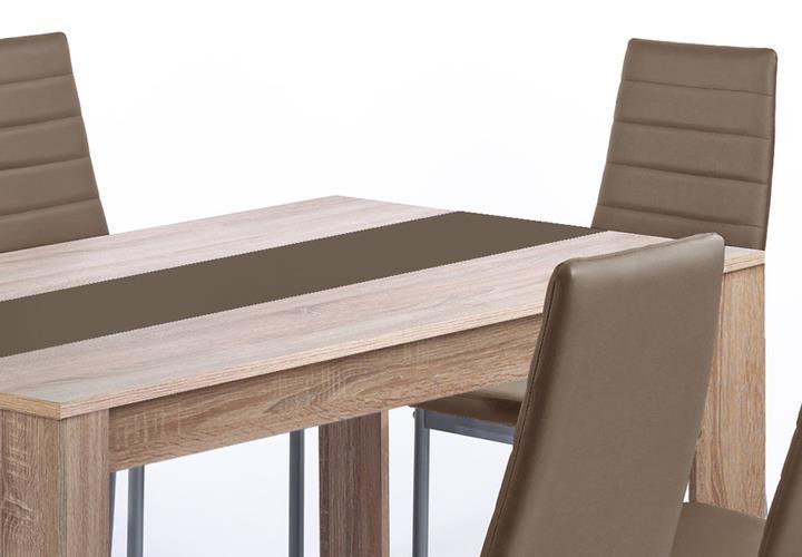 tischgruppe pegasus esszimmer k che tisch sonoma eiche 6 st hle in cappuccino ebay. Black Bedroom Furniture Sets. Home Design Ideas