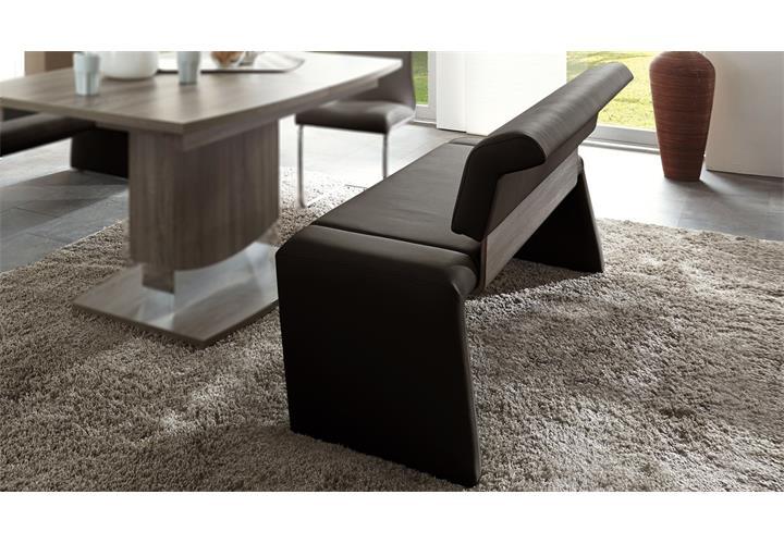 bank aponeo india dunkelbraun 140 cm polsterbank eiche. Black Bedroom Furniture Sets. Home Design Ideas