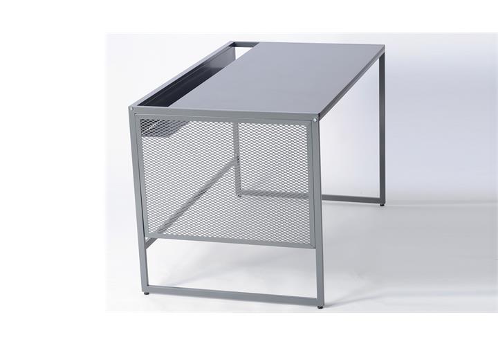 schreibtisch moreno 02 in stahl grau computertisch arbeitstisch b ro b rom bel ebay. Black Bedroom Furniture Sets. Home Design Ideas