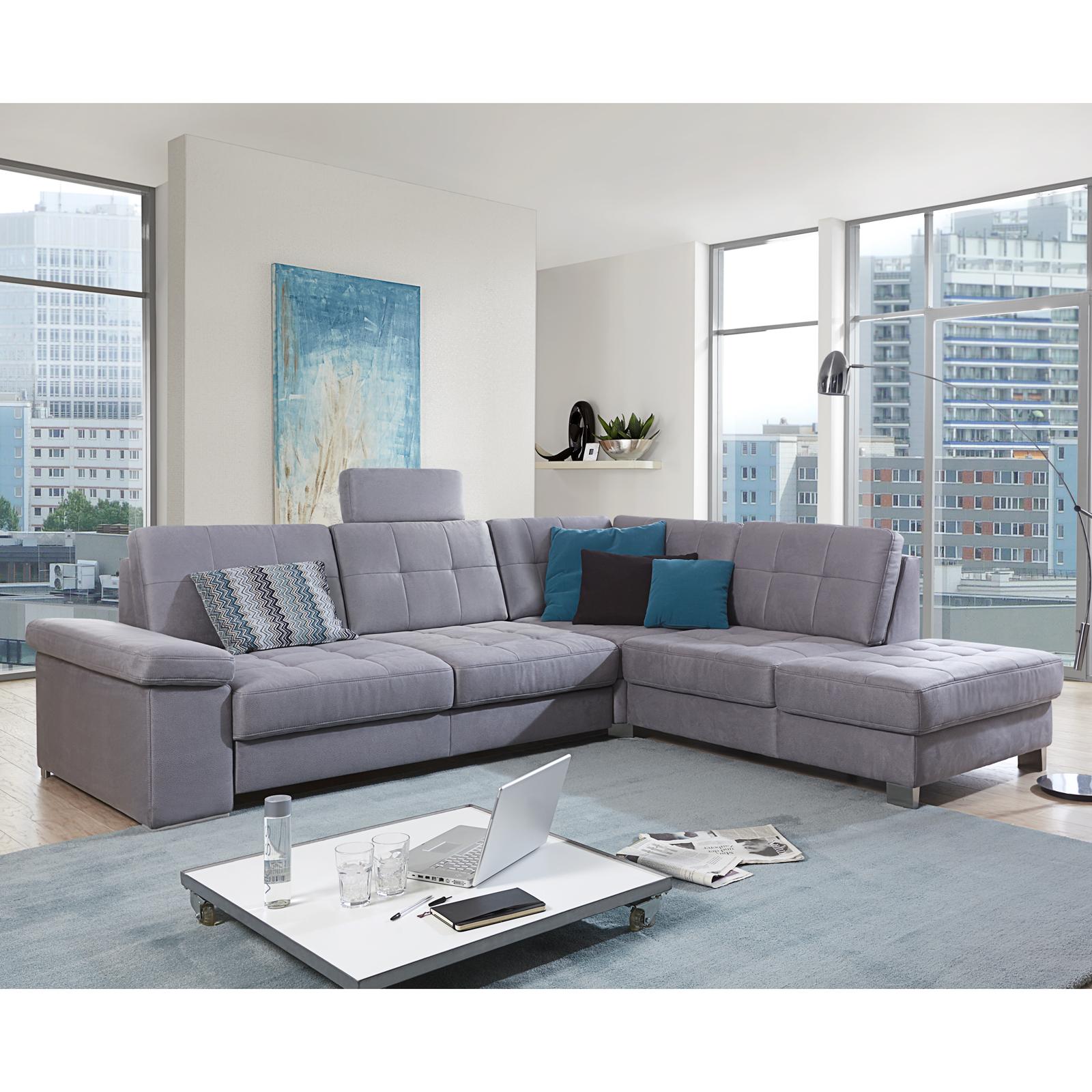 ecksofa puzzle wohnlandschaft sofa polsterm bel in grau. Black Bedroom Furniture Sets. Home Design Ideas