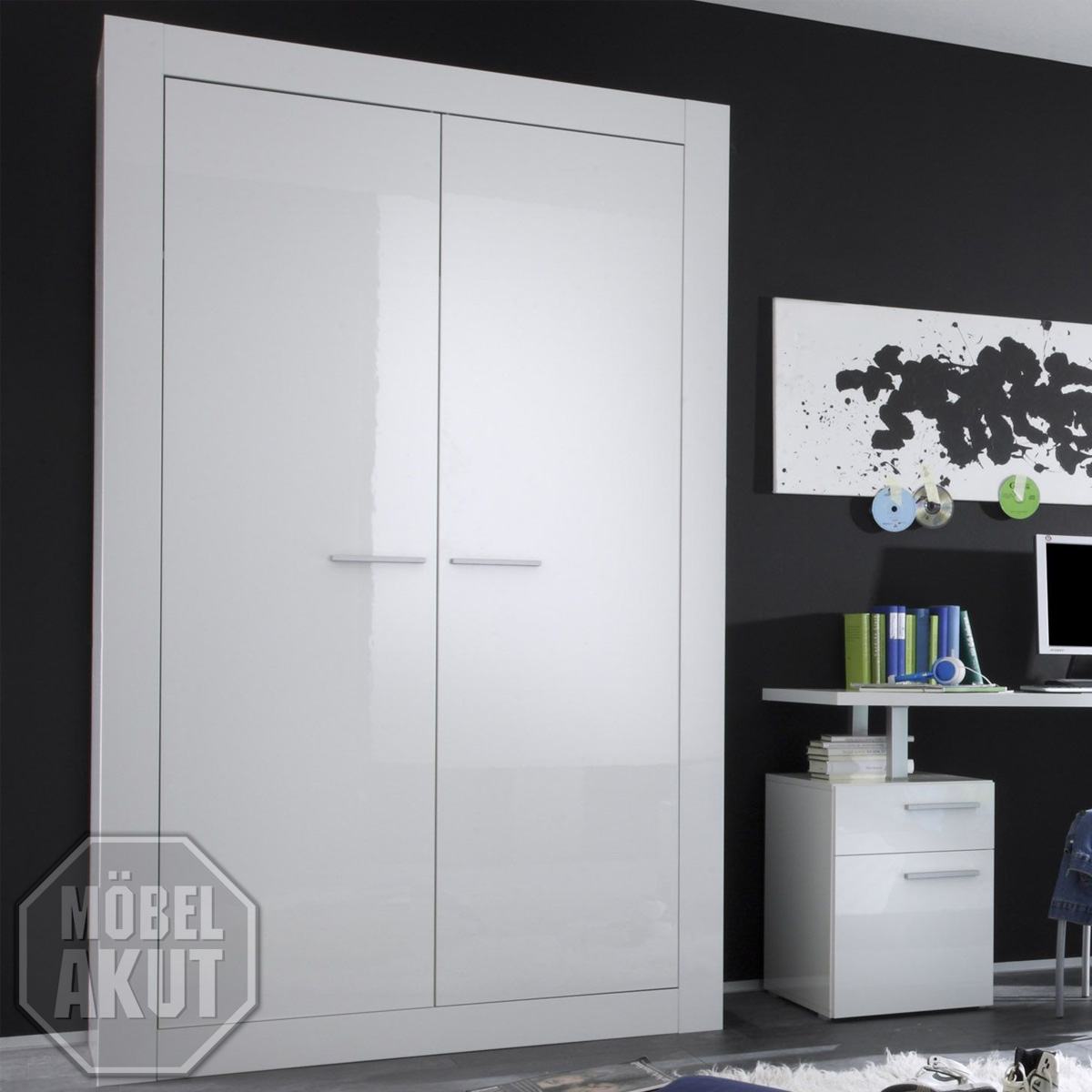 kleiderschrank amalfi schrank lack wei echt hochglanz neu ebay. Black Bedroom Furniture Sets. Home Design Ideas