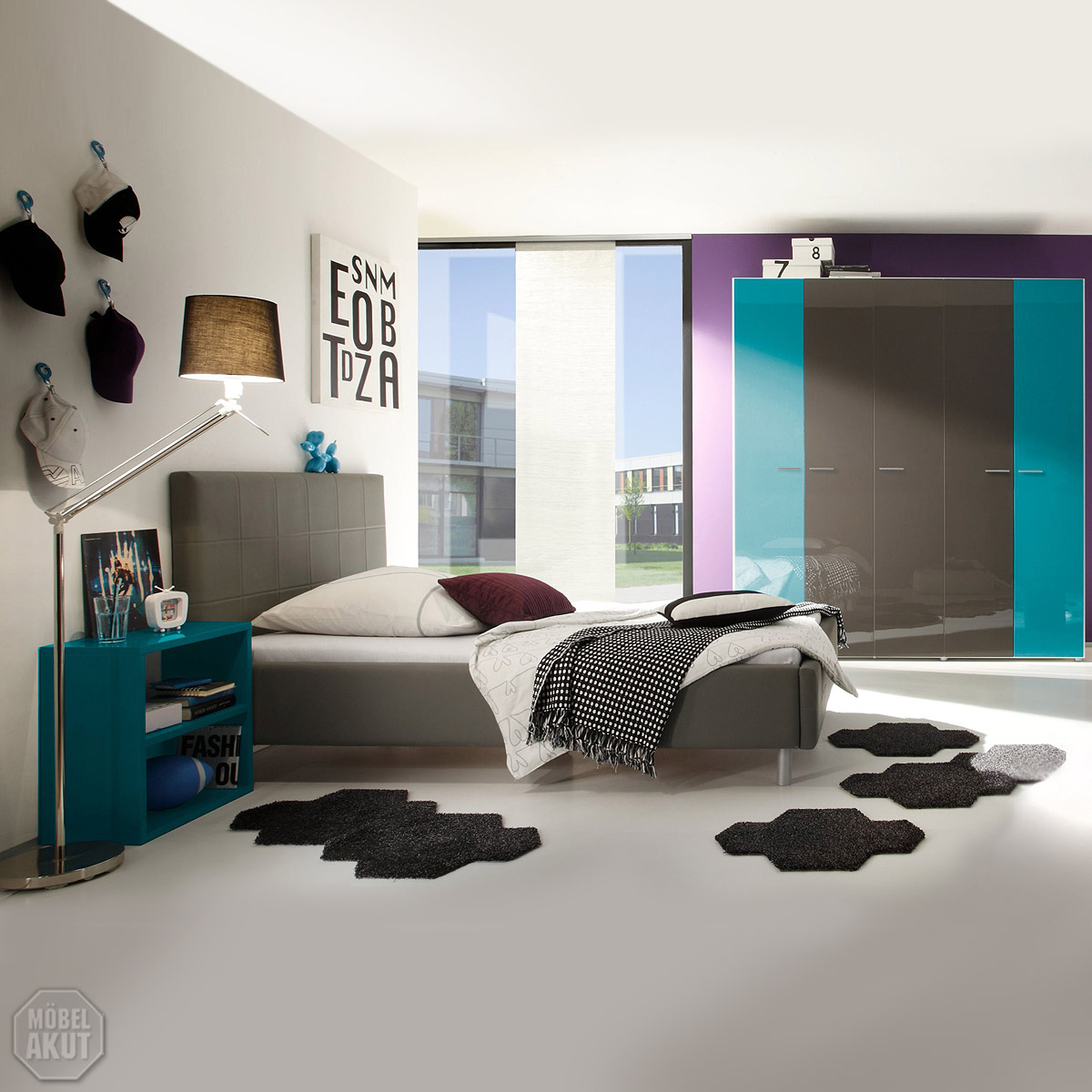 jugendzimmer smart kinderzimmer schrank bett nako t rkis. Black Bedroom Furniture Sets. Home Design Ideas