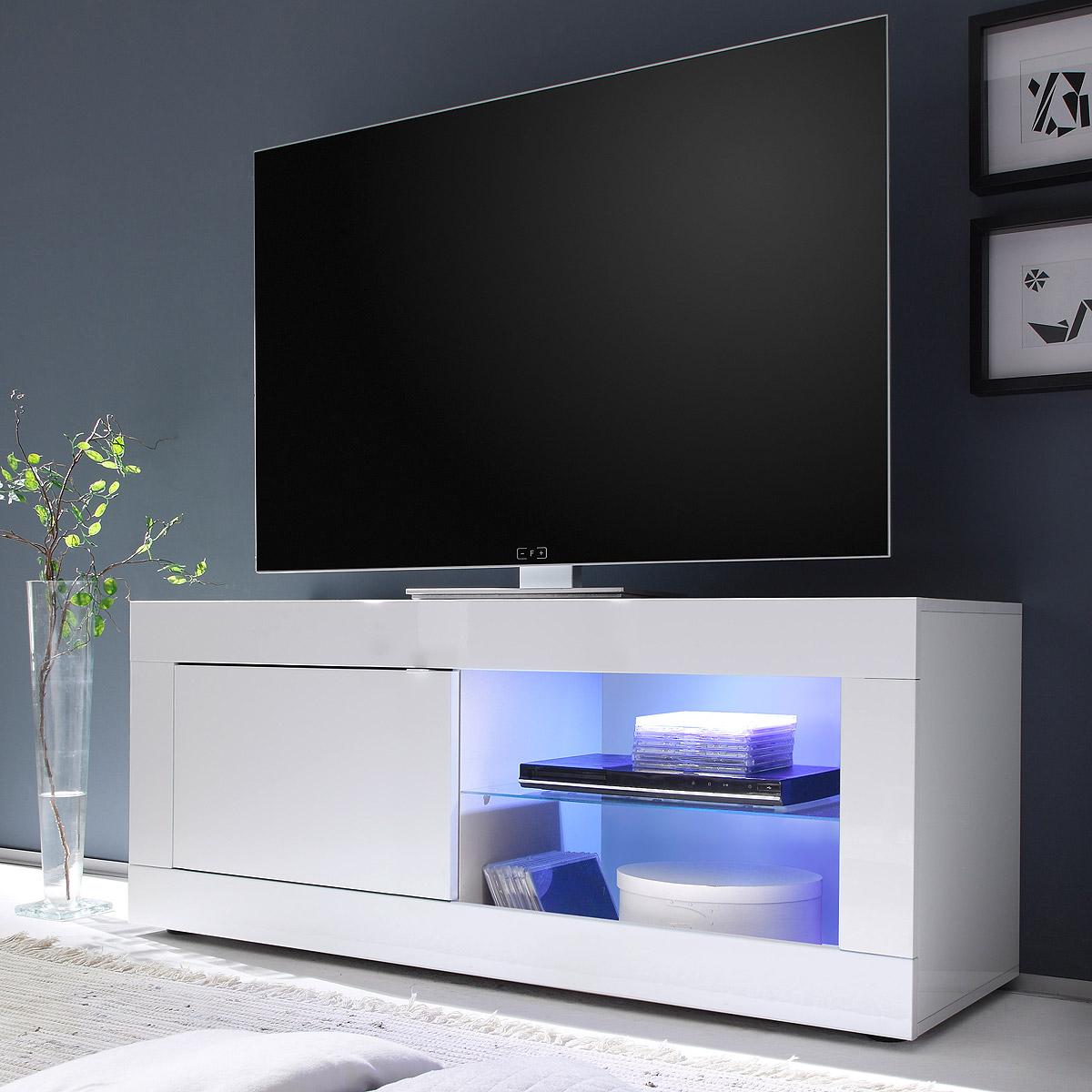 tv element basic tv board lowboard kommode wei lackiert breite 140 cm ebay. Black Bedroom Furniture Sets. Home Design Ideas