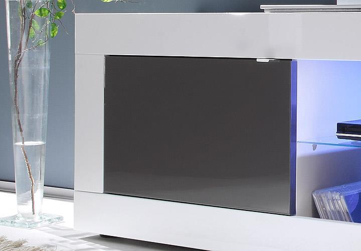 tv element basic lowboard kommode wei und anthrazit. Black Bedroom Furniture Sets. Home Design Ideas