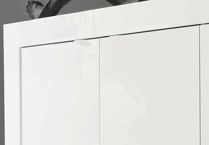 Sideboard Basic Wohnzimmer Kommode weiß lackiert 3-türig • EUR 239 ...