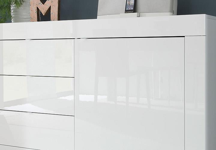 sideboard basic wohnzimmer kommode weiß lackiert breite 210 cm | ebay