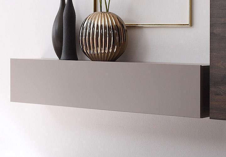 wohnwand cube kombi 3 anbauwand beige matt und eiche wenge ebay. Black Bedroom Furniture Sets. Home Design Ideas