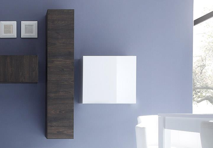 wohnwand cube kombi 5 anbauwand eiche wenge und wei lack. Black Bedroom Furniture Sets. Home Design Ideas