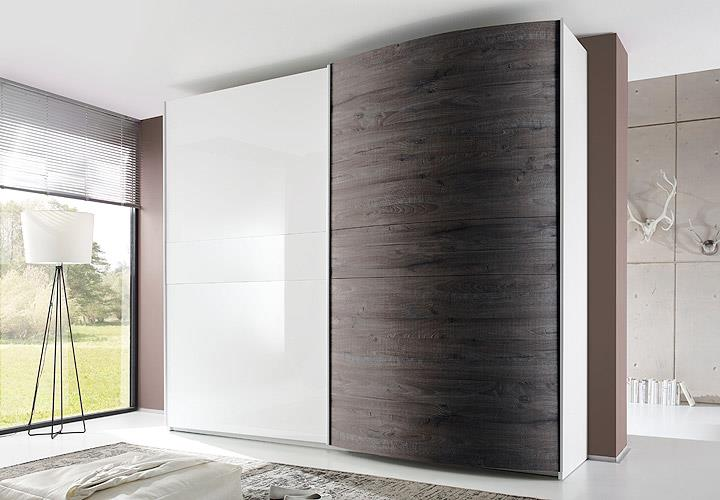 schwebet renschrank tambura kleiderschrank wei lack eiche wenge b 280 cm ebay. Black Bedroom Furniture Sets. Home Design Ideas