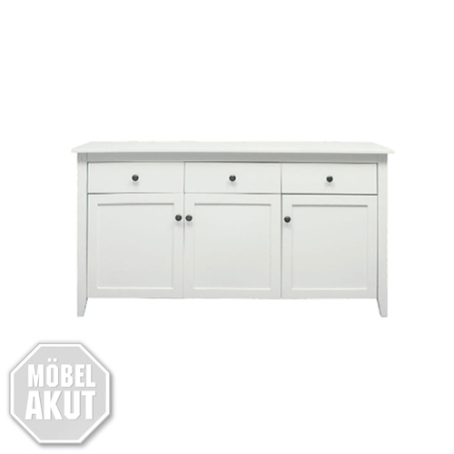 sideboard nuko kommode in birke teil massiv wei lackiert neu. Black Bedroom Furniture Sets. Home Design Ideas