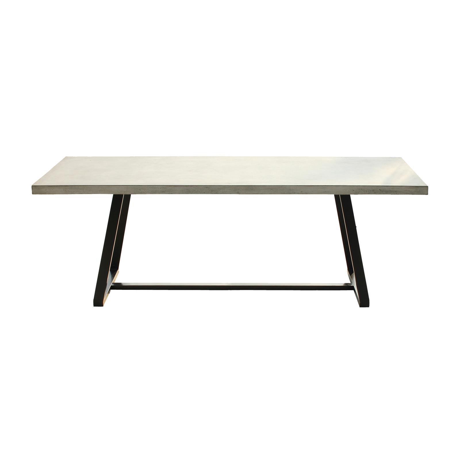 esstisch cement esszimmer tischplatte aus leichtbeton und