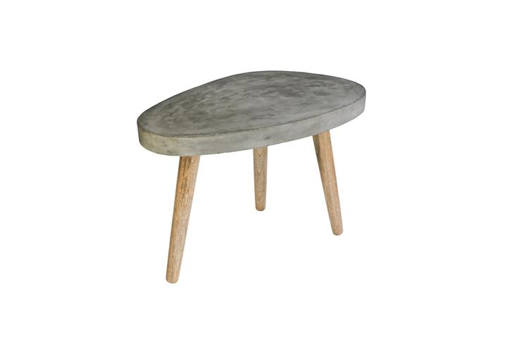 Couchtisch 60×37 cm Cement Tischplatte aus Leichtbeton und