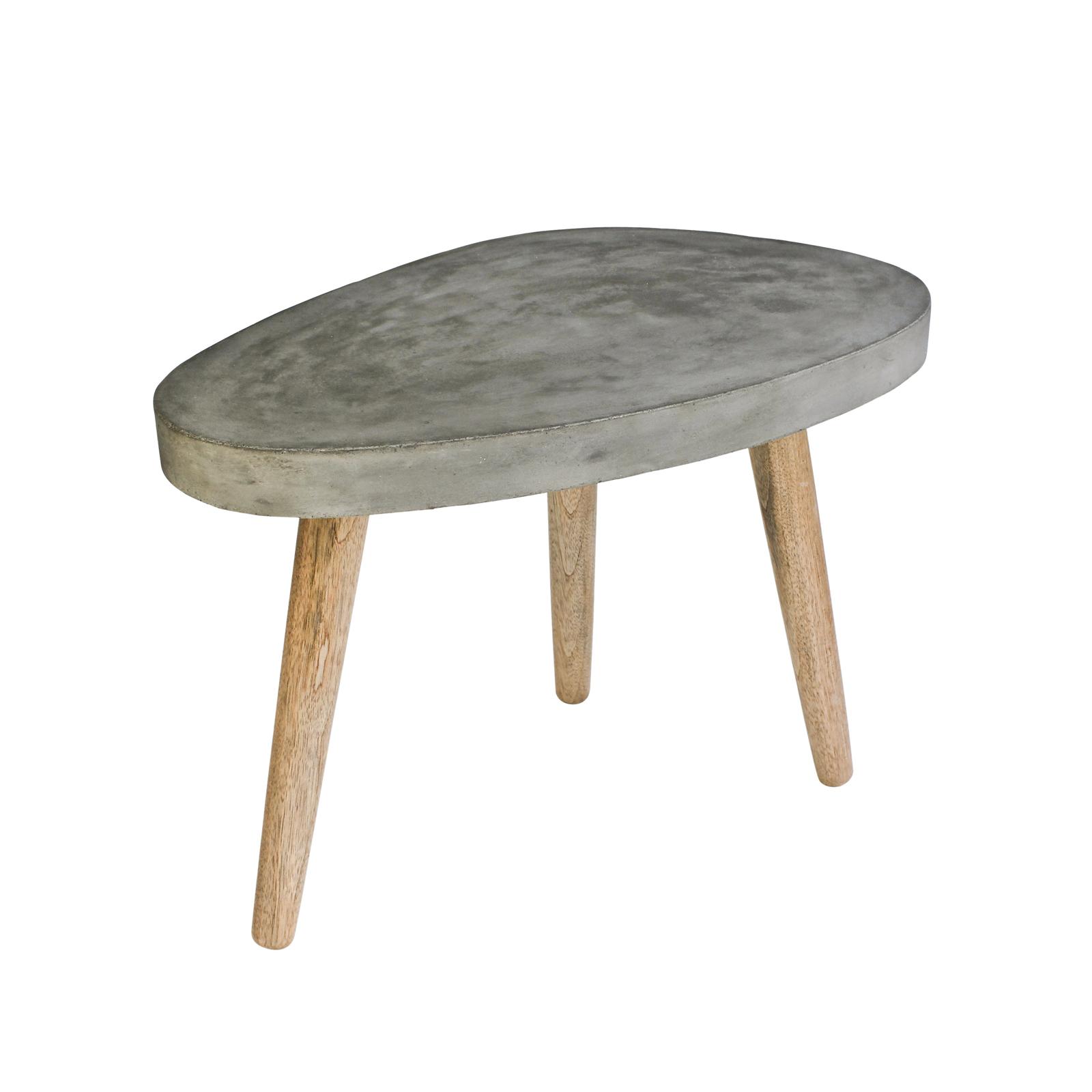 couchtisch 60x37 cm cement tischplatte aus leichtbeton und beine eiche massiv ebay. Black Bedroom Furniture Sets. Home Design Ideas