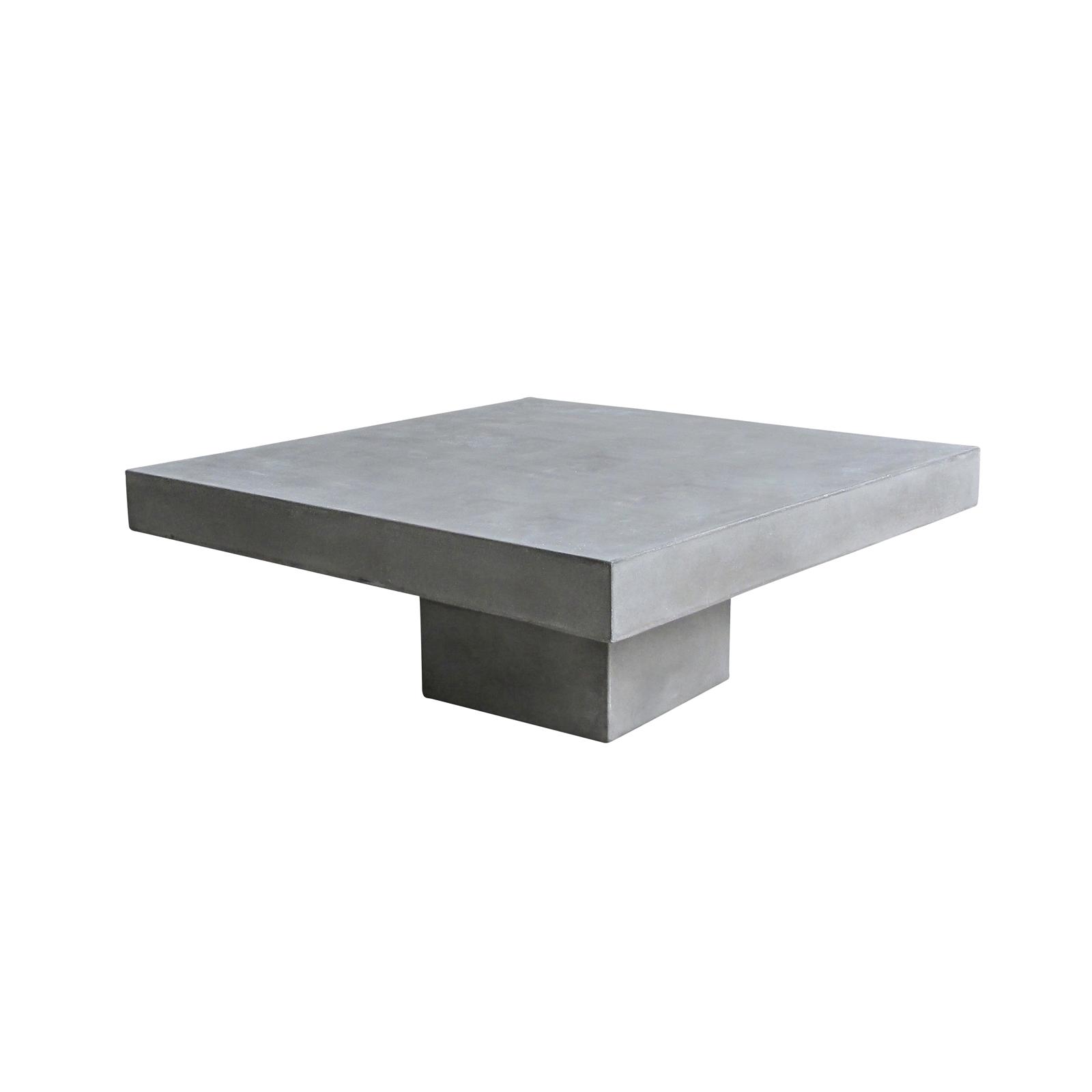Couchtisch 80×80 cm Cement Tischplatte und Rahmen aus