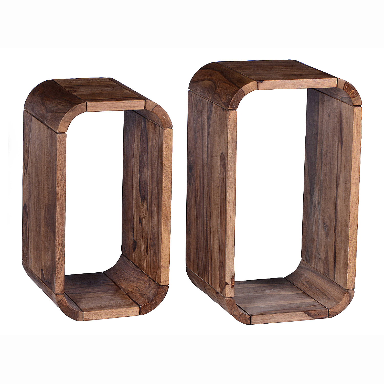 regal set goa von sit h ngeregal wandregal cube sheesham holz massiv ebay. Black Bedroom Furniture Sets. Home Design Ideas
