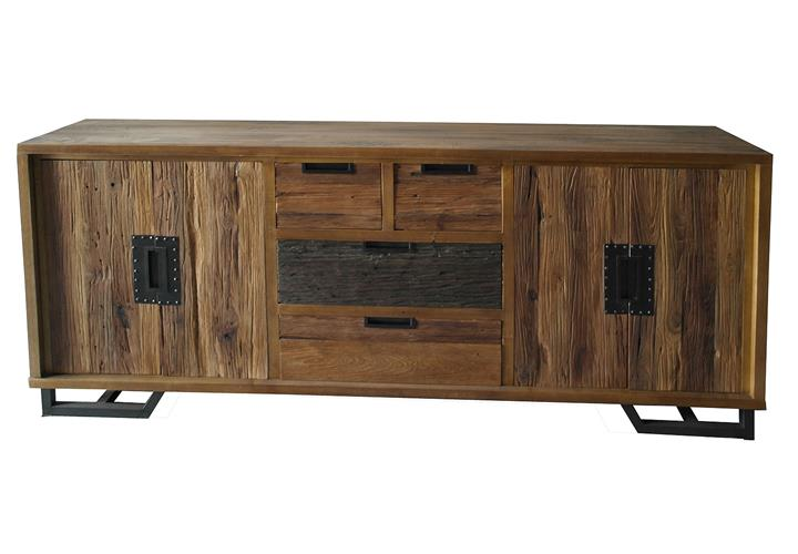 sideboard thalysa anrichte kommode albesia holz recyceltes teakholz b 200 cm ebay. Black Bedroom Furniture Sets. Home Design Ideas