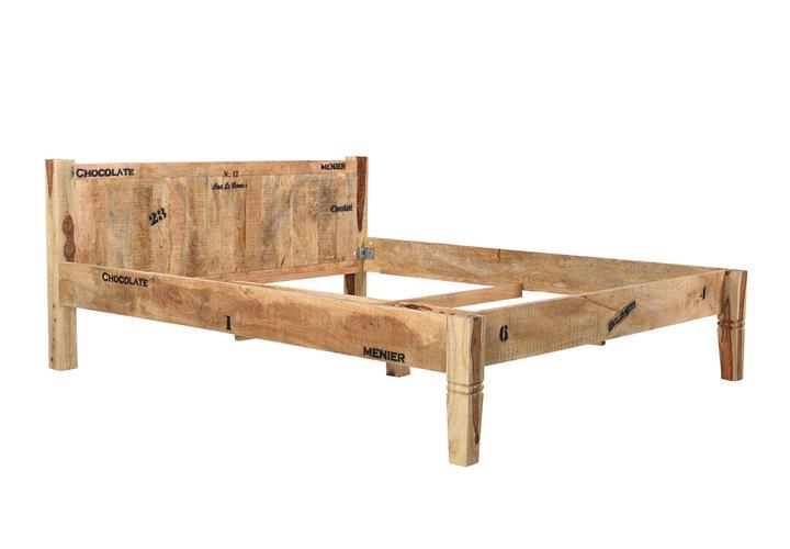 bett rustic bettgestell futonbett mango massivholz lackiert natur 180x200 cm ebay. Black Bedroom Furniture Sets. Home Design Ideas