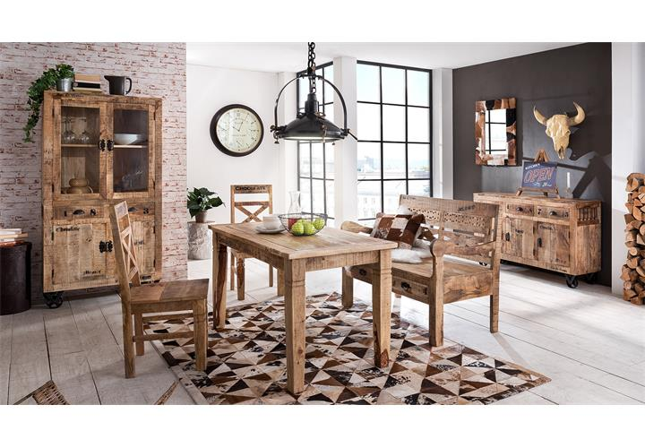 bett rustic bettgestell futonbett mango massivholz lackiert natur 180x200 cm ebay. Black Bedroom Furniture Sets. Home Design Ideas