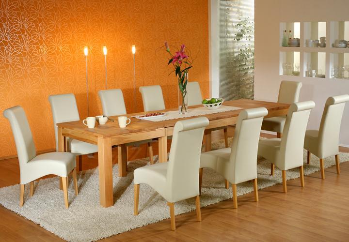 esstisch multi xl massivholz tisch mit synchronauszug wahlweise buche oder eiche ebay. Black Bedroom Furniture Sets. Home Design Ideas