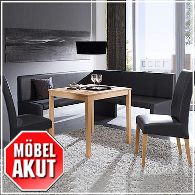 eckbank berlin in schwarz grau braun o beige neu ebay. Black Bedroom Furniture Sets. Home Design Ideas