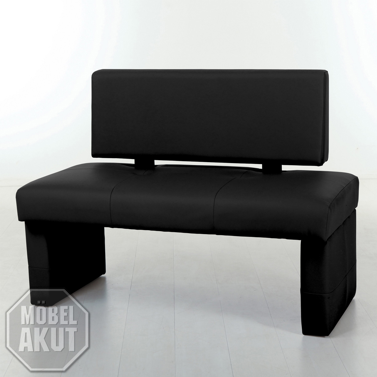 bank dimas sitzbank polsterbank mit r ckenlehne in schwarz. Black Bedroom Furniture Sets. Home Design Ideas