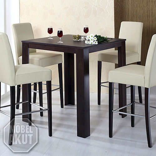 bartisch dalor tisch bistrotisch buche kolonial massiv 90x90 cm ebay. Black Bedroom Furniture Sets. Home Design Ideas