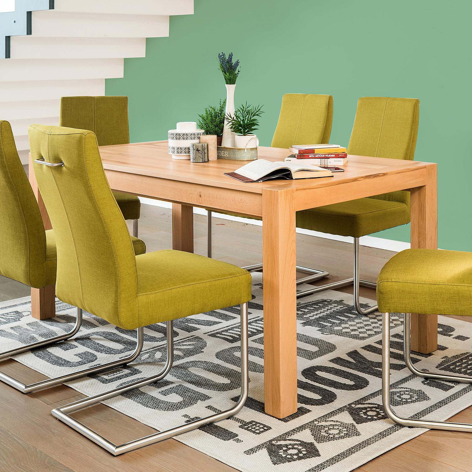 esstisch kapstadt 3xl esszimmertisch eiche massiv ge lt 160 295 cm farbauswahl ebay. Black Bedroom Furniture Sets. Home Design Ideas