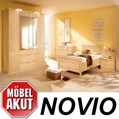 schlafzimmer set novio birke carat massiv neu ebay. Black Bedroom Furniture Sets. Home Design Ideas