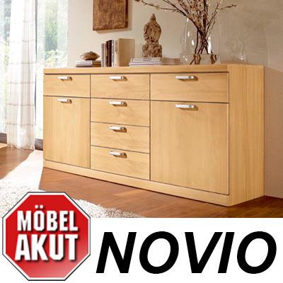 sideboard novio kommode birke carat massiv neu ebay. Black Bedroom Furniture Sets. Home Design Ideas