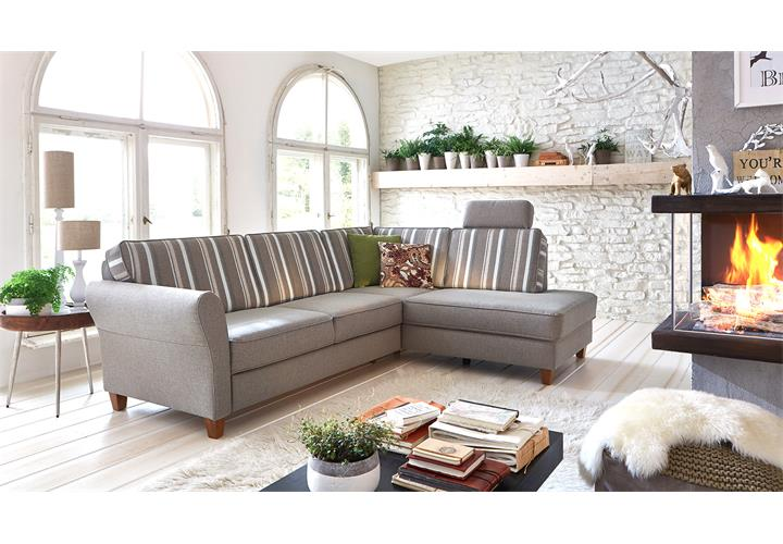 ecksofa baltrum sofa wohnlandschaft polsterm bel in beige im landhaus stil 247 ebay. Black Bedroom Furniture Sets. Home Design Ideas