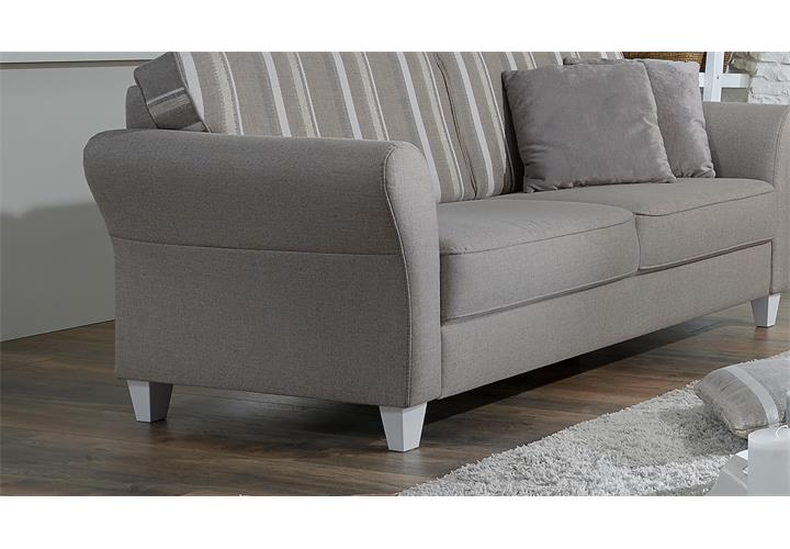 sofa 3er baltrum 3 sitzer polsterm bel in beige im landhaus stil 187 ebay. Black Bedroom Furniture Sets. Home Design Ideas