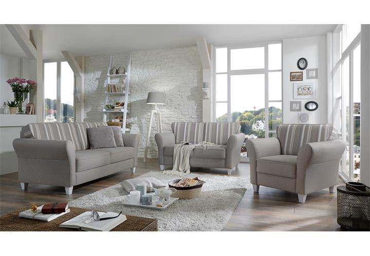sofa 2er baltrum 2 sitzer polsterm bel in beige im landhaus stil 157. Black Bedroom Furniture Sets. Home Design Ideas