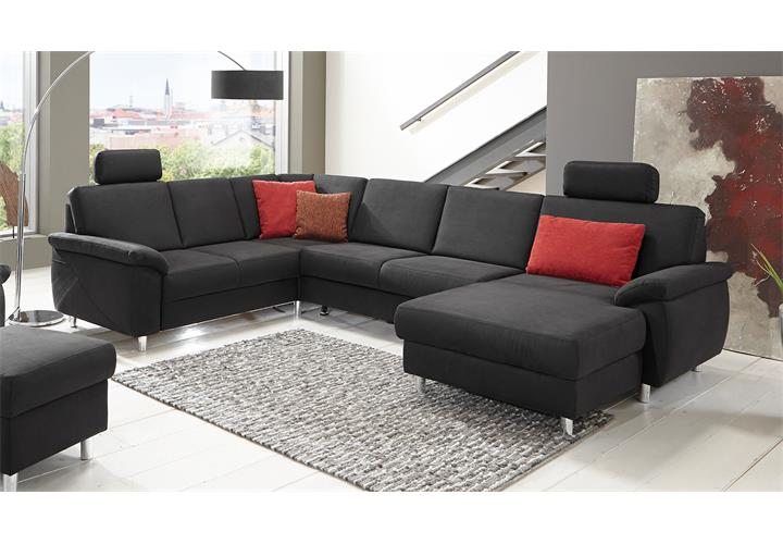wohnlandschaft winston ecksofa sofa polsterm bel u form in anthrazit 321 cm ebay. Black Bedroom Furniture Sets. Home Design Ideas