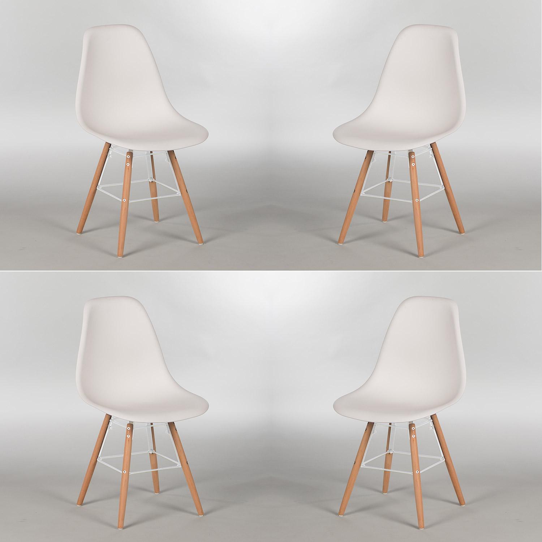 Stuhl 4er set sitzschale kunststoff oder gepolstert for Stuhl buche