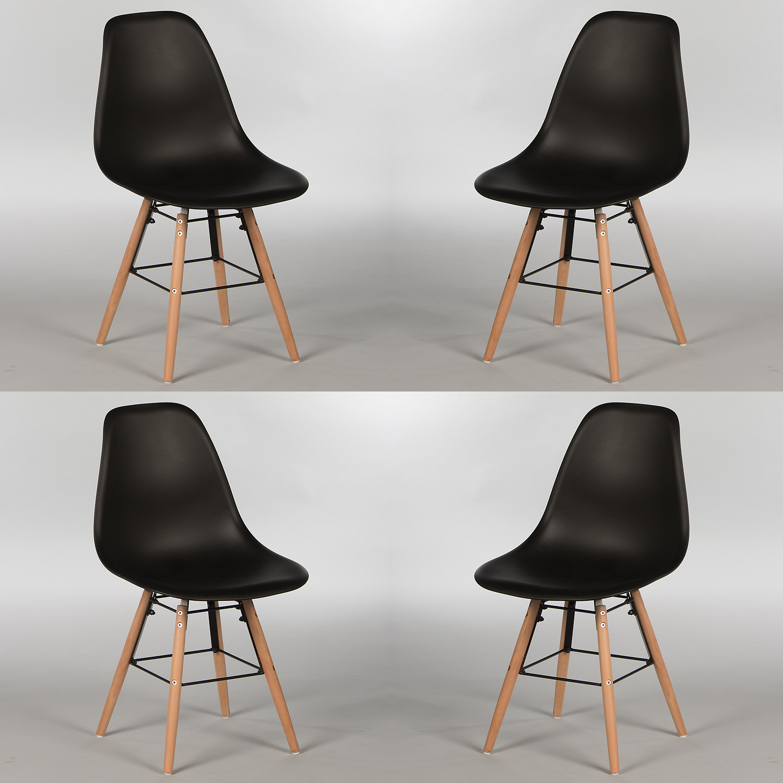 Stuhl 4er set sitzschale kunststoff oder gepolstert for Stuhl gepolstert