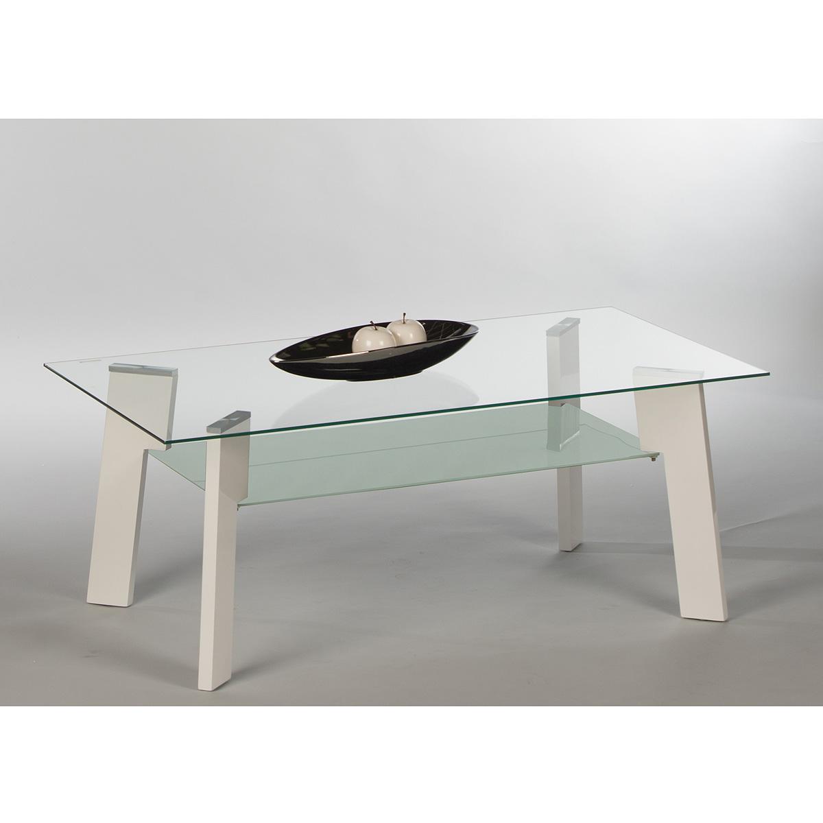 Couchtisch Johnny Beistelltisch Wohnzimmertisch Tisch Glas weiß ...